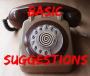 Basic Suggestions